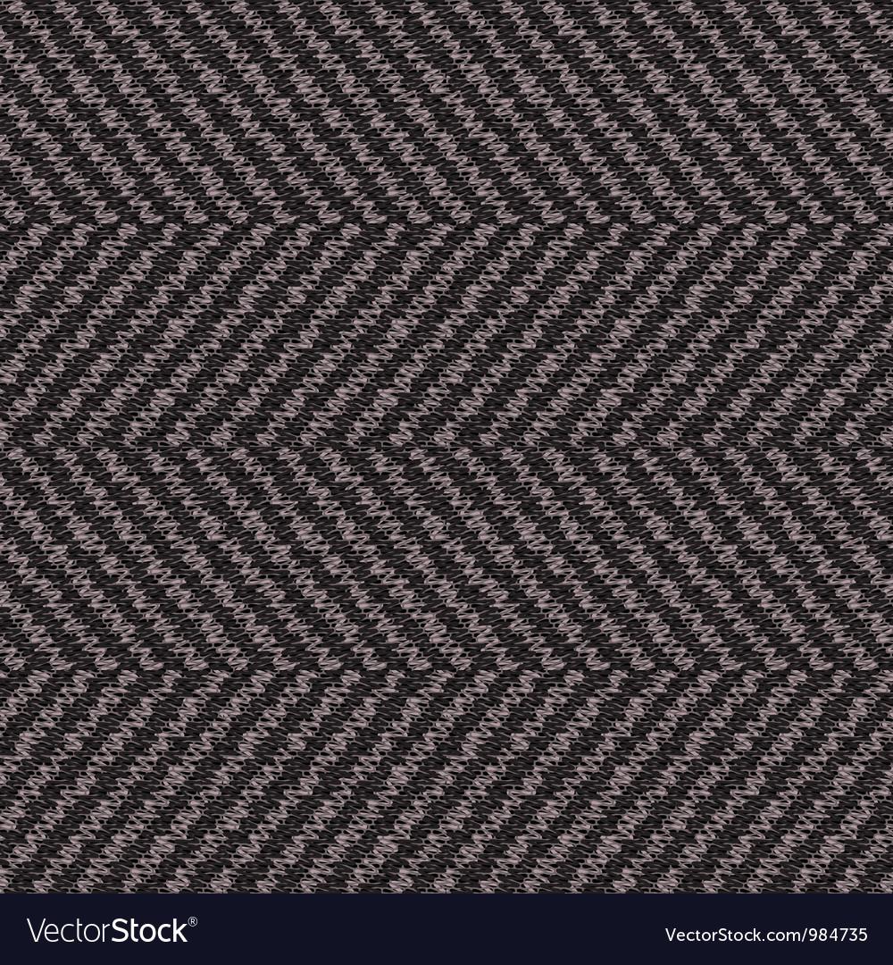 Wool herringbone fabric vector image