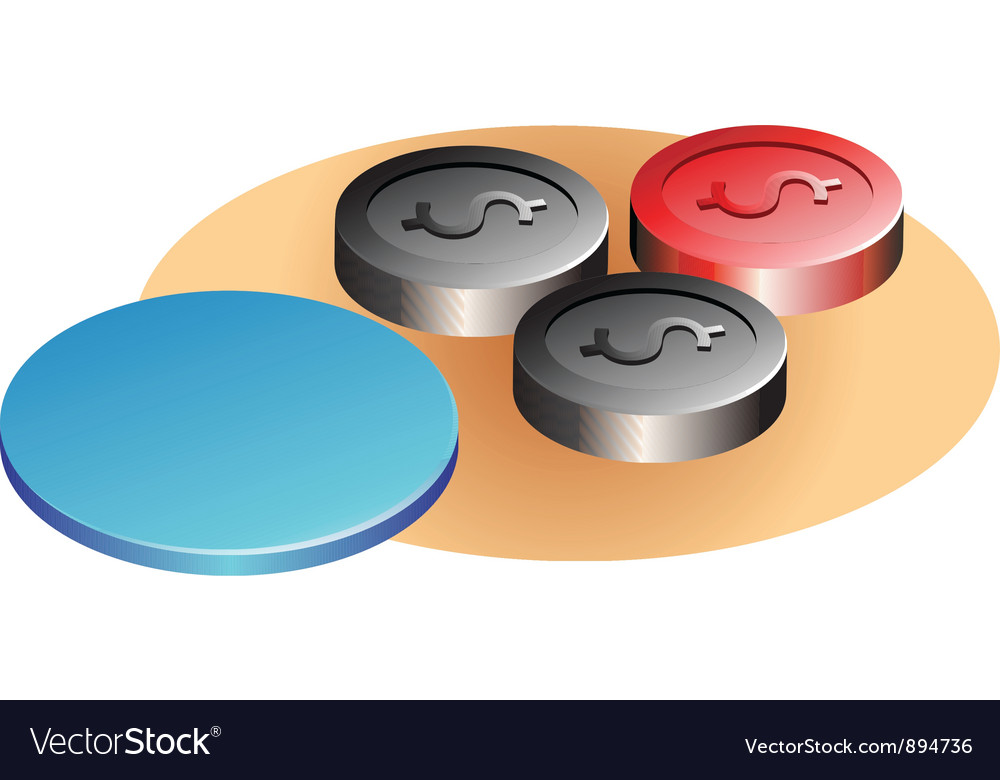 Caroms ball vector image
