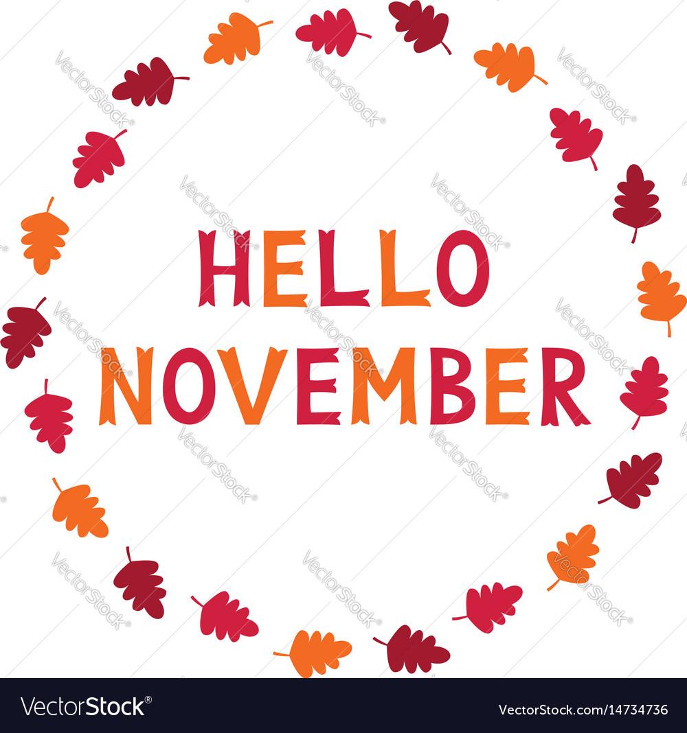 Hello November Images