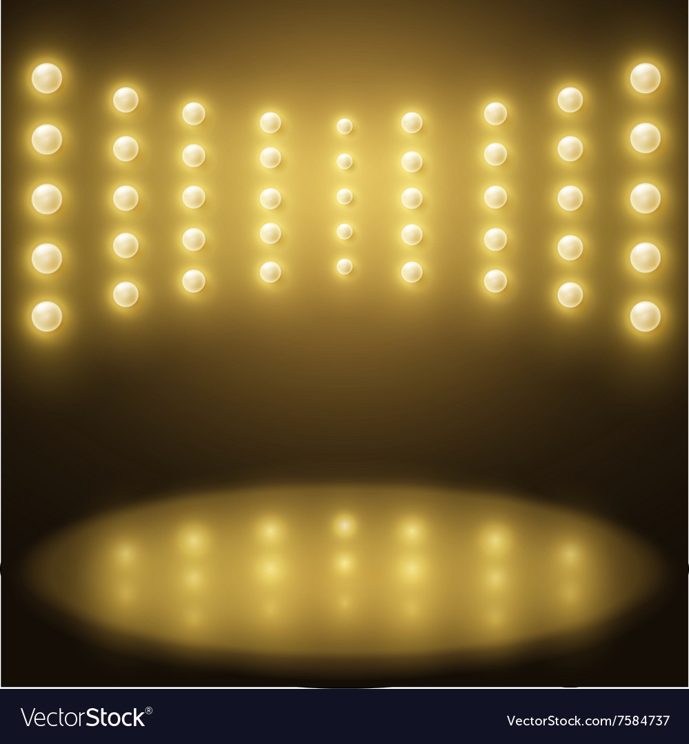 stage yellow lights abstract sparkling background royalty