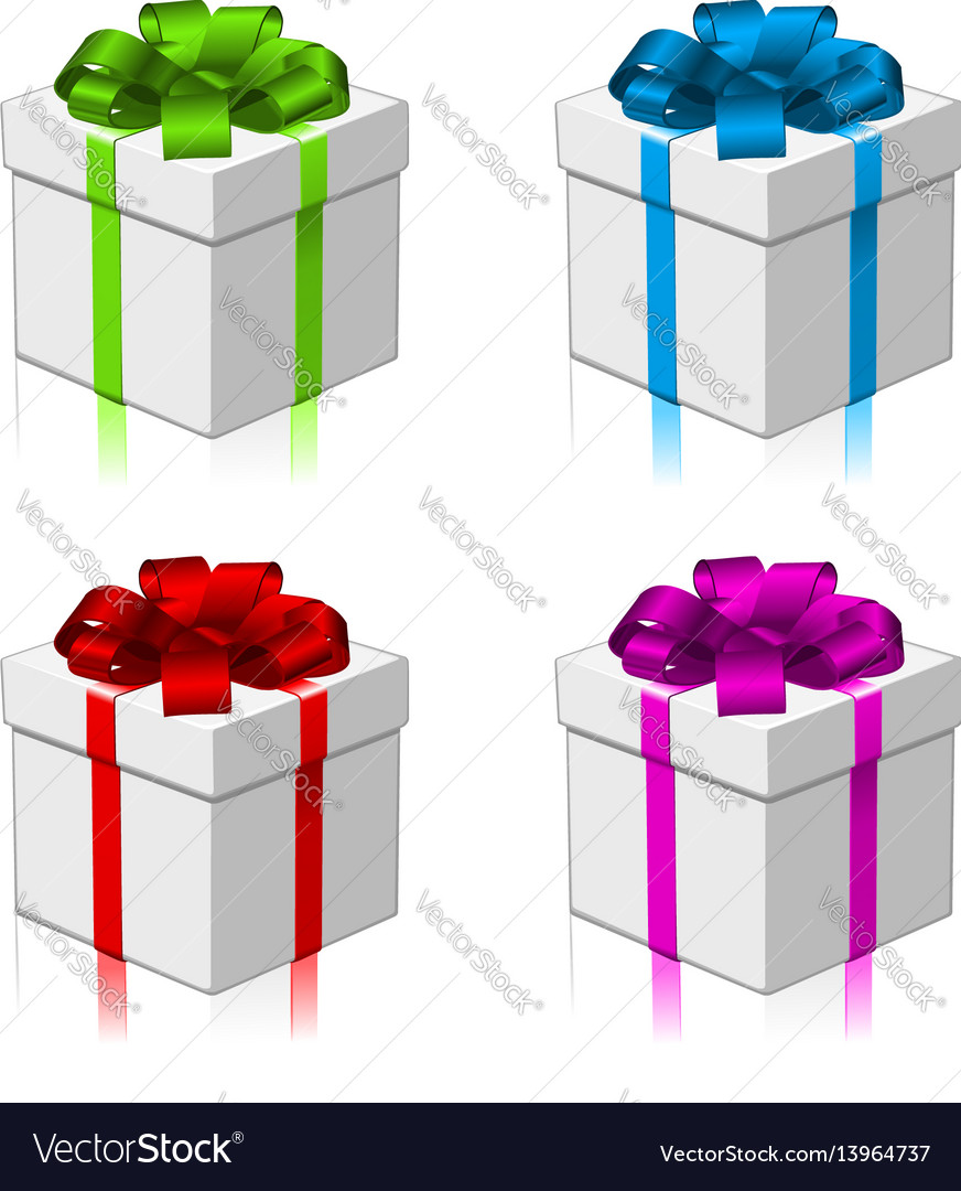 Gift or present four colors vector image