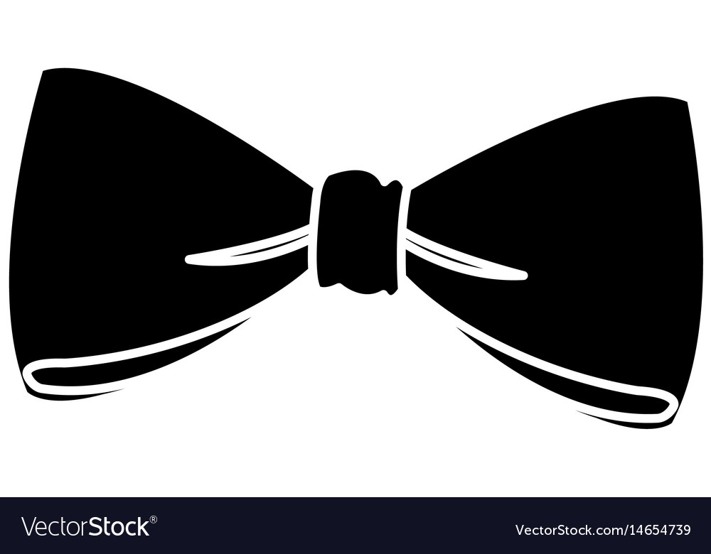 Bow decoration elegant ribbon pictogram vector image