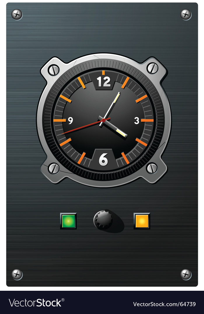 Clock device vector image