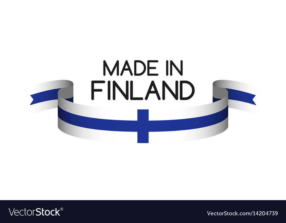 Colored ribbon with the finnish colors vector image