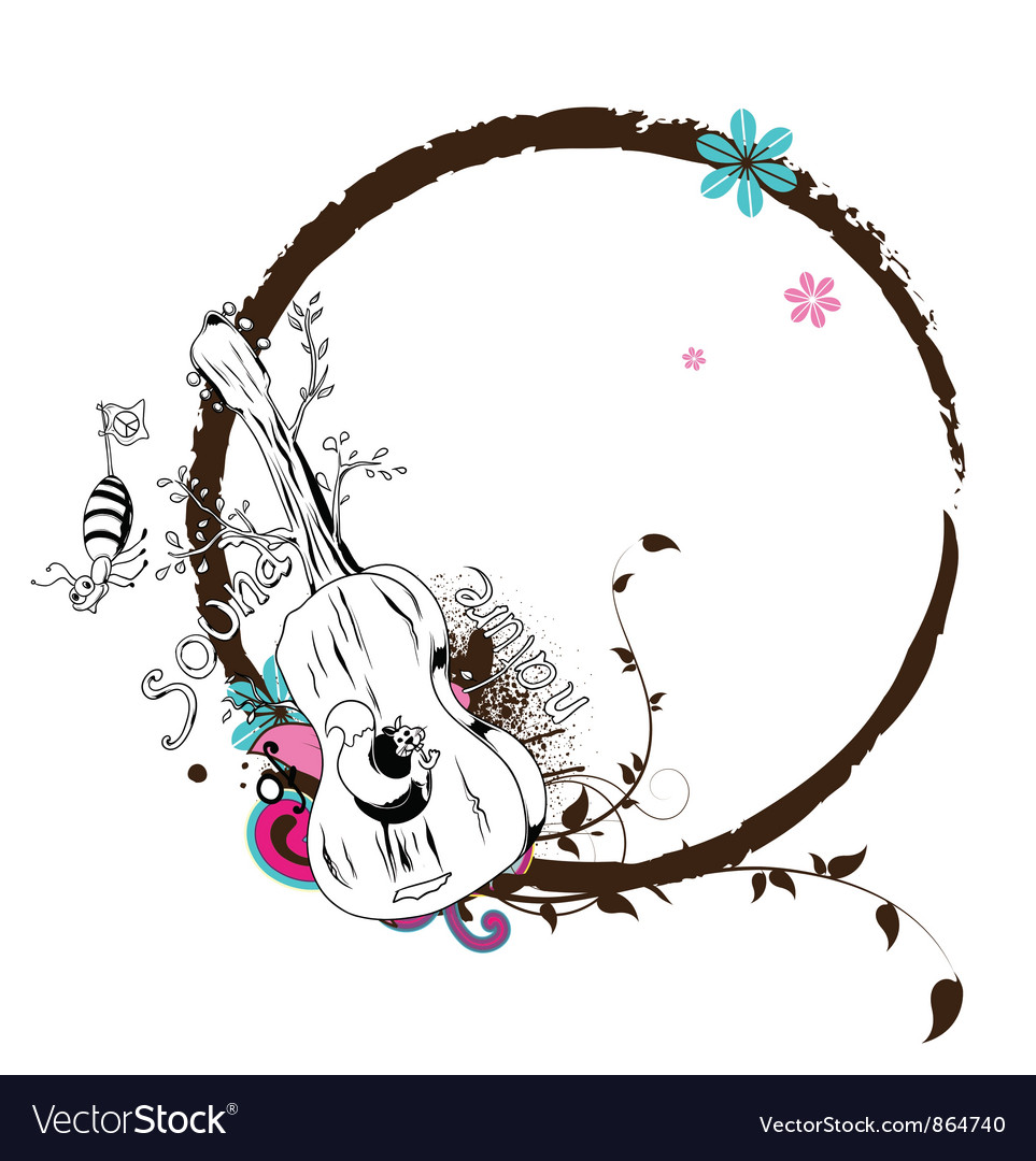 music frame vector image - Music Picture Frame