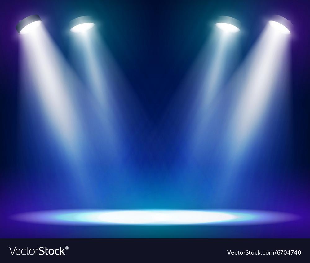 Stage lights background vector image