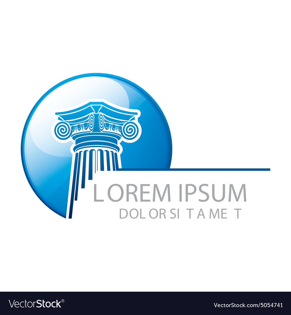 Logo Abstract Law Building vector image