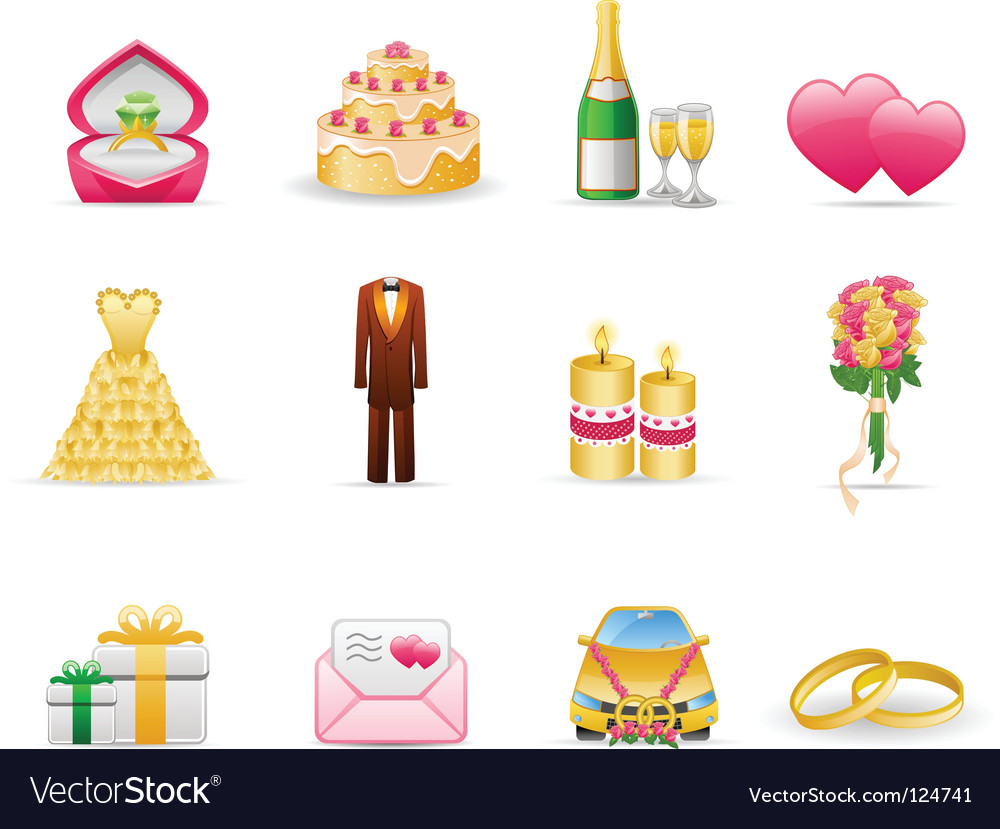 Wedding marriage vector image