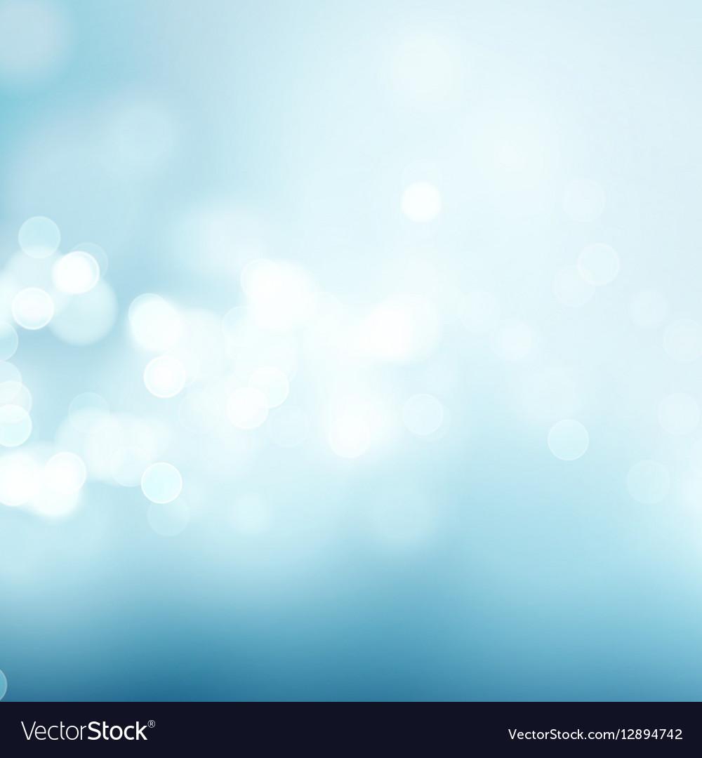 Abstract blue circular bokeh background vector image