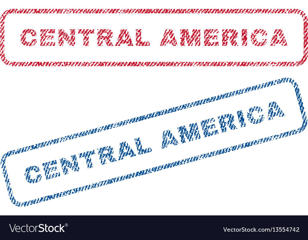 Central america textile stamps vector image