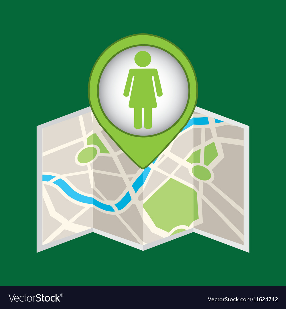 Person recycle pin map icon vector image