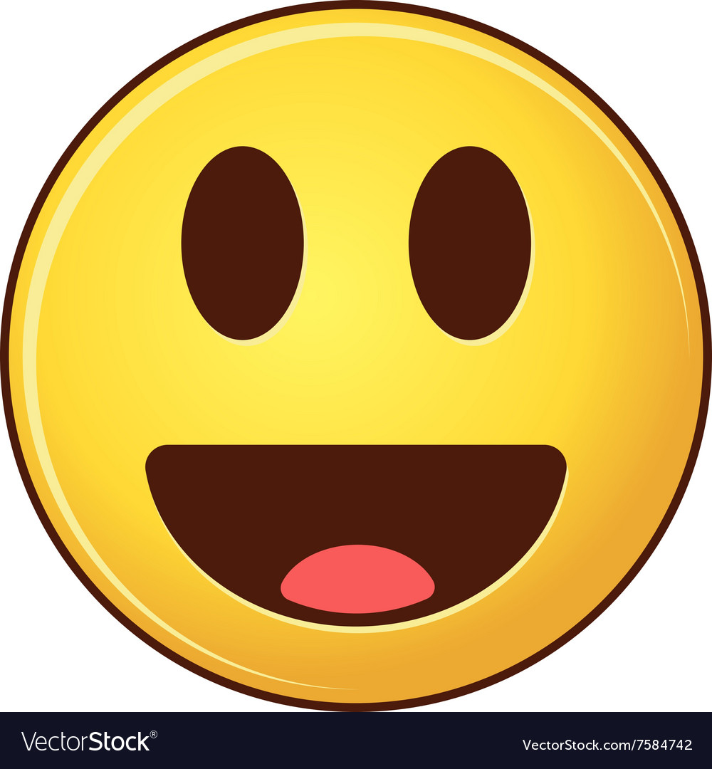 Smiling emoji with tongue Cartoon style smiles vector image