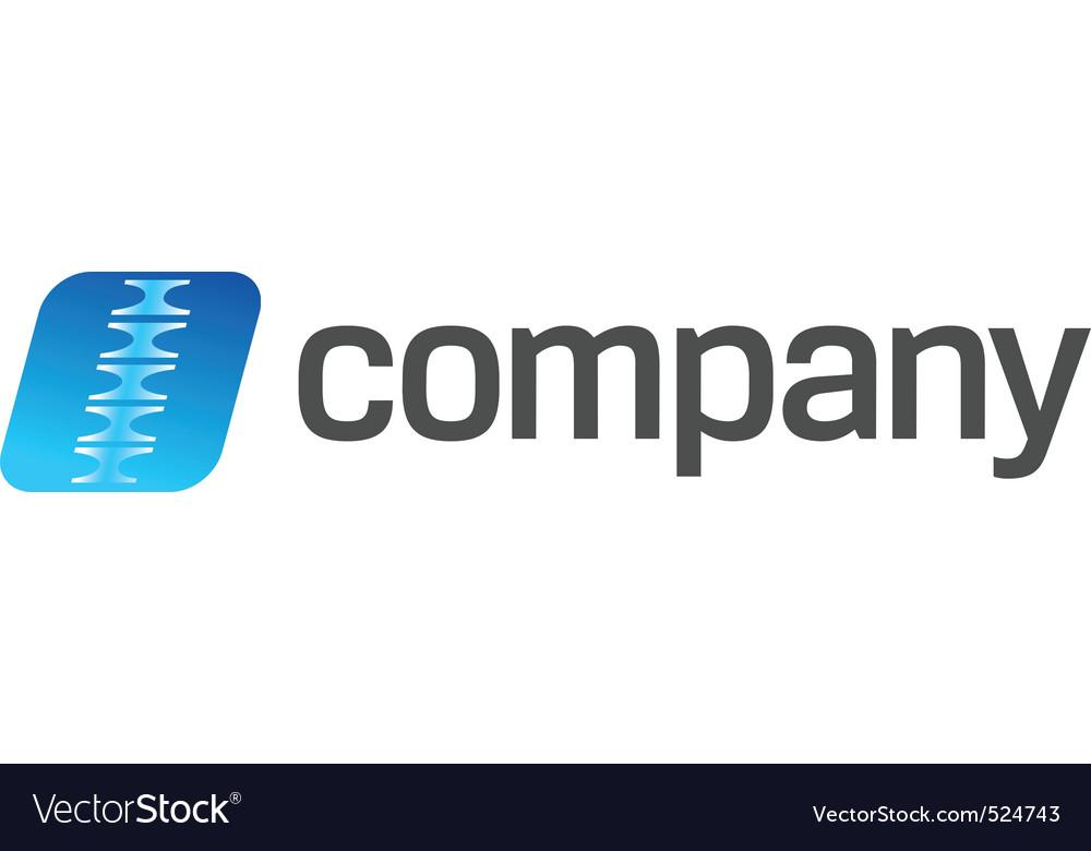 Chiropractor practice logo vector image