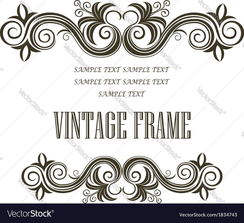 Vintage framing header and footer vector image