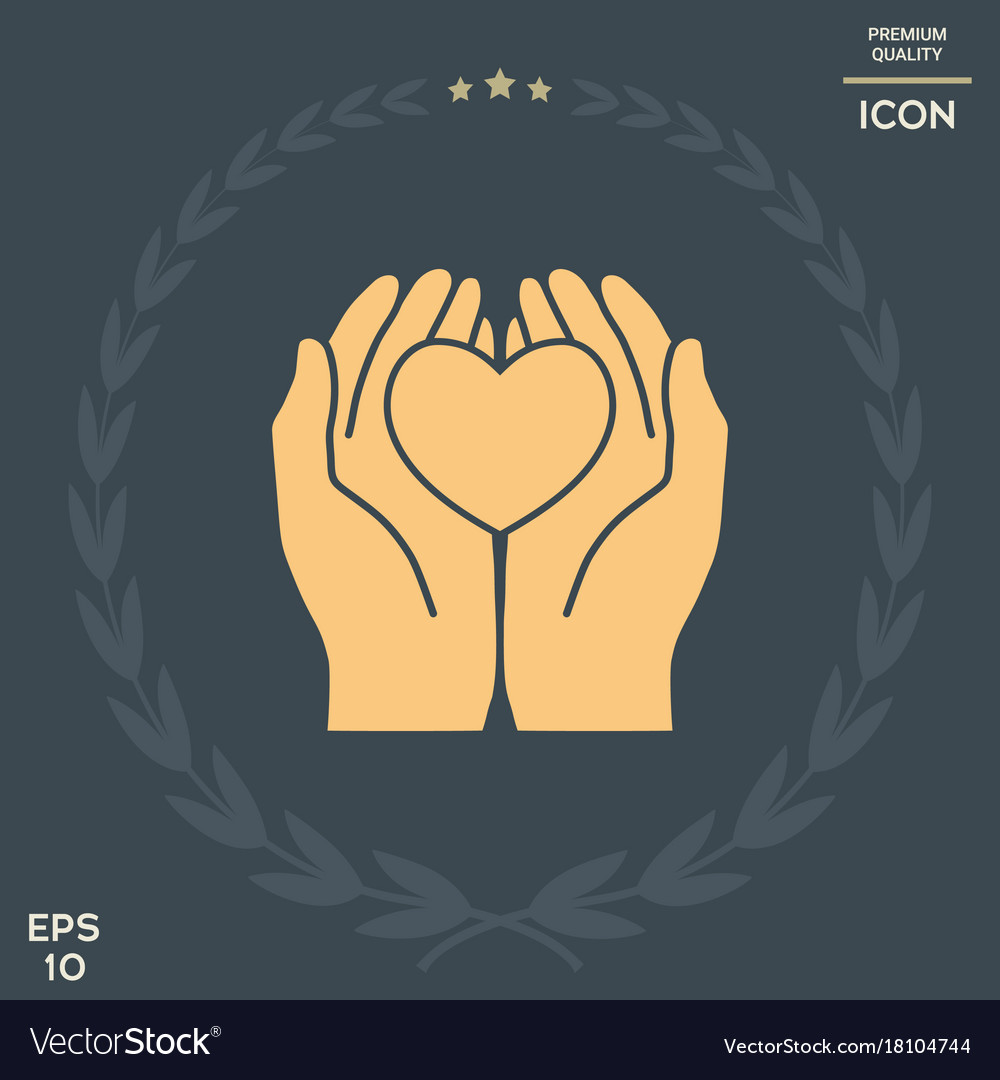 Hands holding heart protection symbol royalty free vector hands holding heart protection symbol vector image biocorpaavc