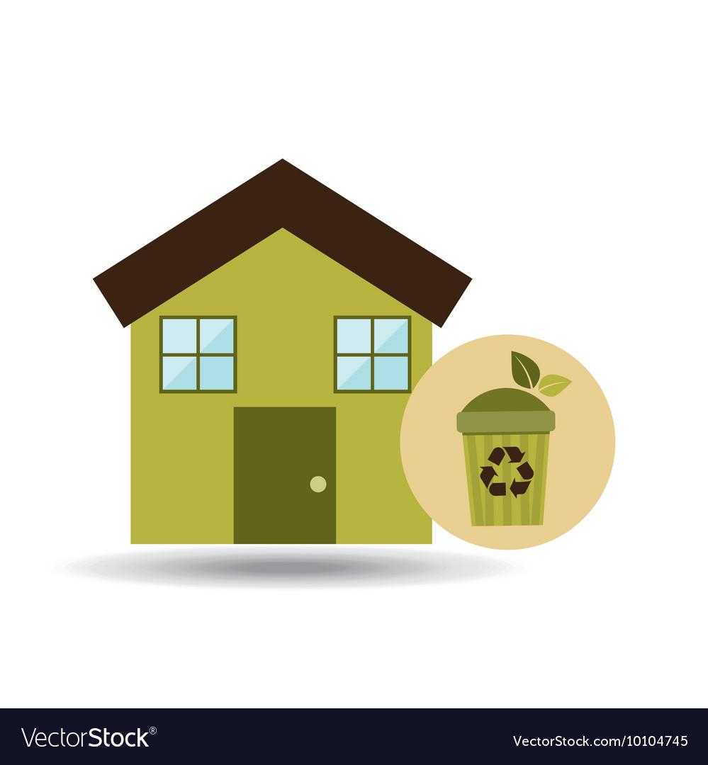 Captivating Ecology House Icon Vector Image