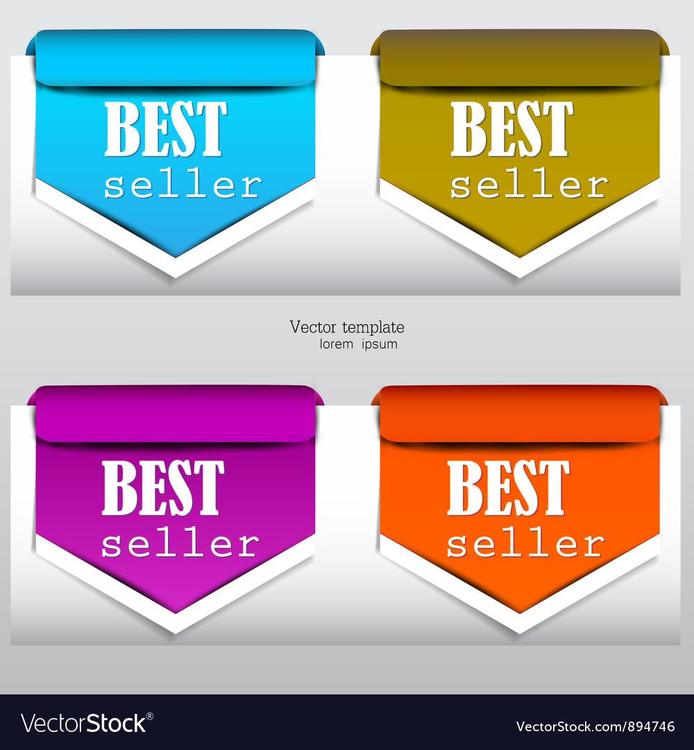 Bookmarks bestseller Vector Image
