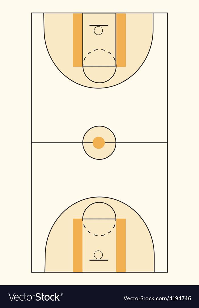 Basketball court vector image