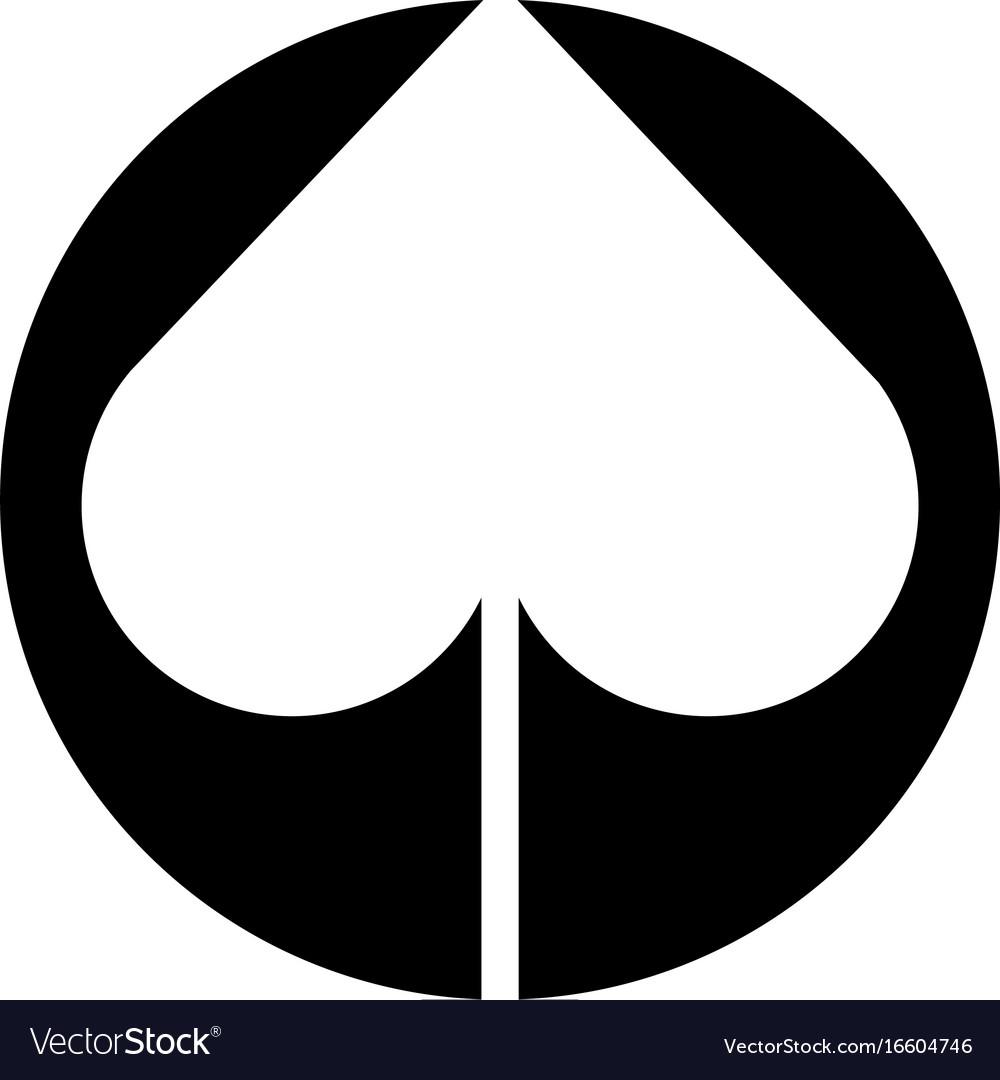 Spade poker symbol icon royalty free vector image spade poker symbol icon vector image biocorpaavc Choice Image