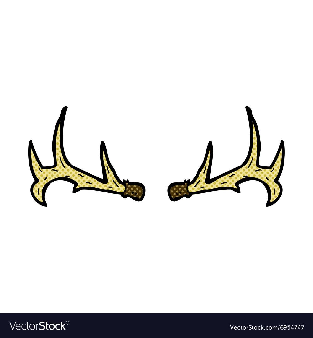 Comic cartoon antlers vector image