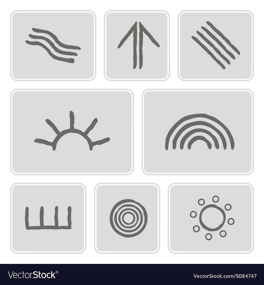Icons with symbols of australian aboriginal art vector image biocorpaavc Images