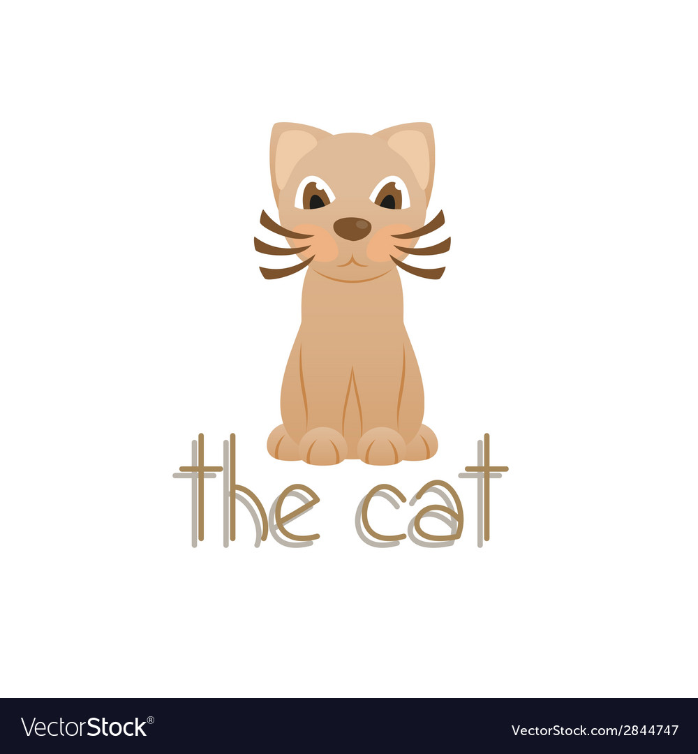 The cat cartoon kitty vector image