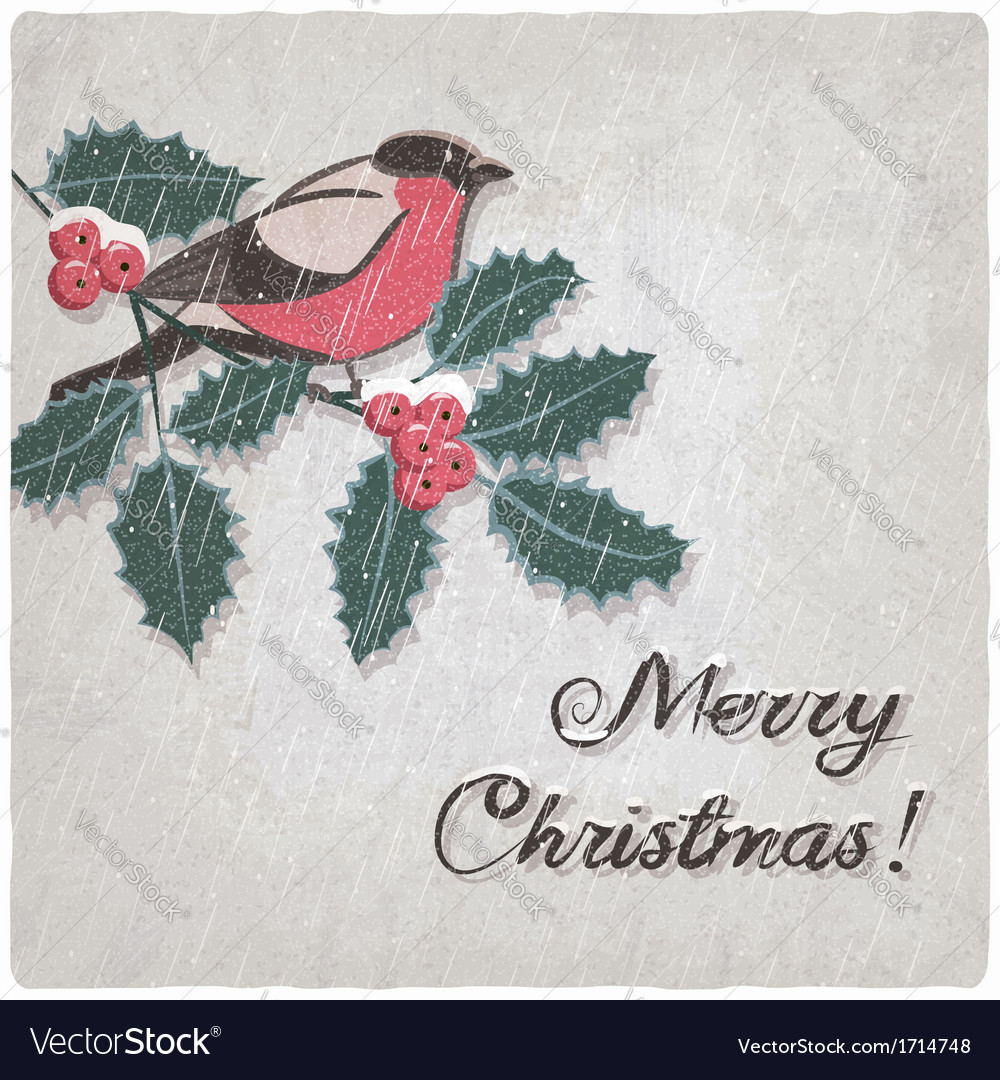 Christmas hand-drawn grungy background vector image
