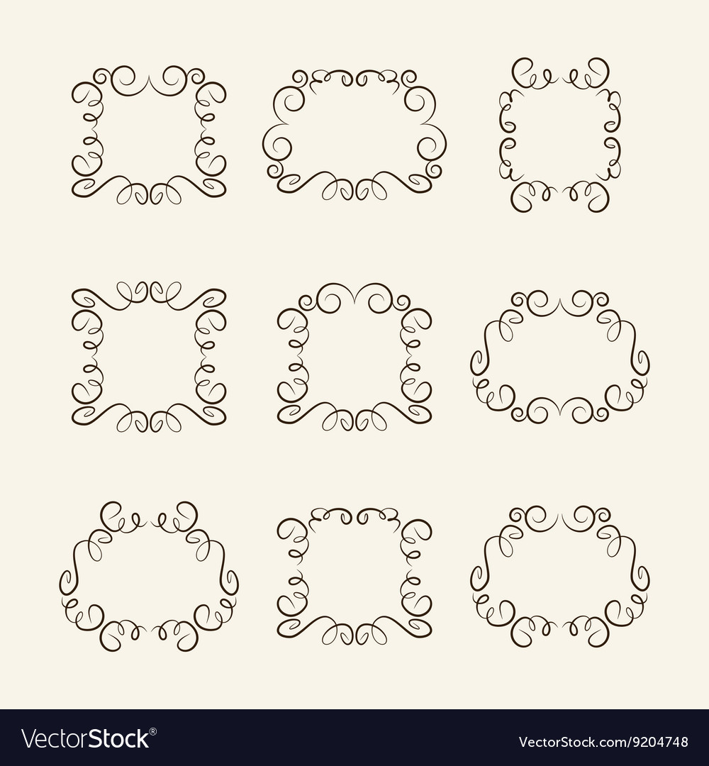 Set frames vector image