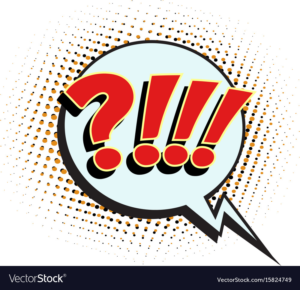 Question comic sign vector image