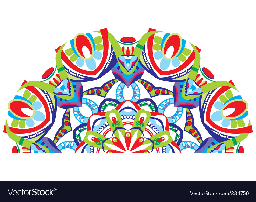 Decorative fan vector image