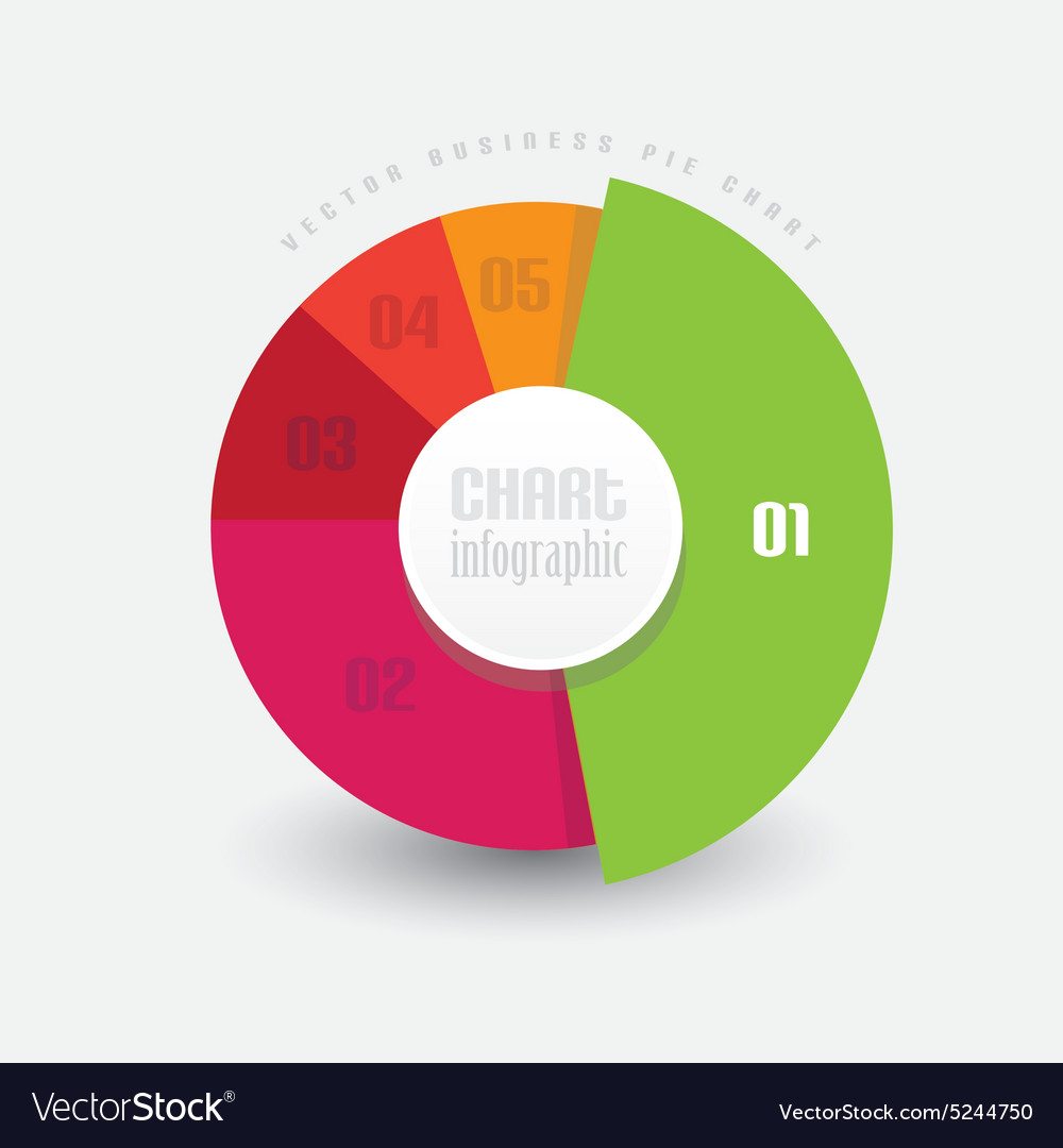 Pie chart in different color pieces measuring vector image pie chart in different color pieces measuring vector image geenschuldenfo Images