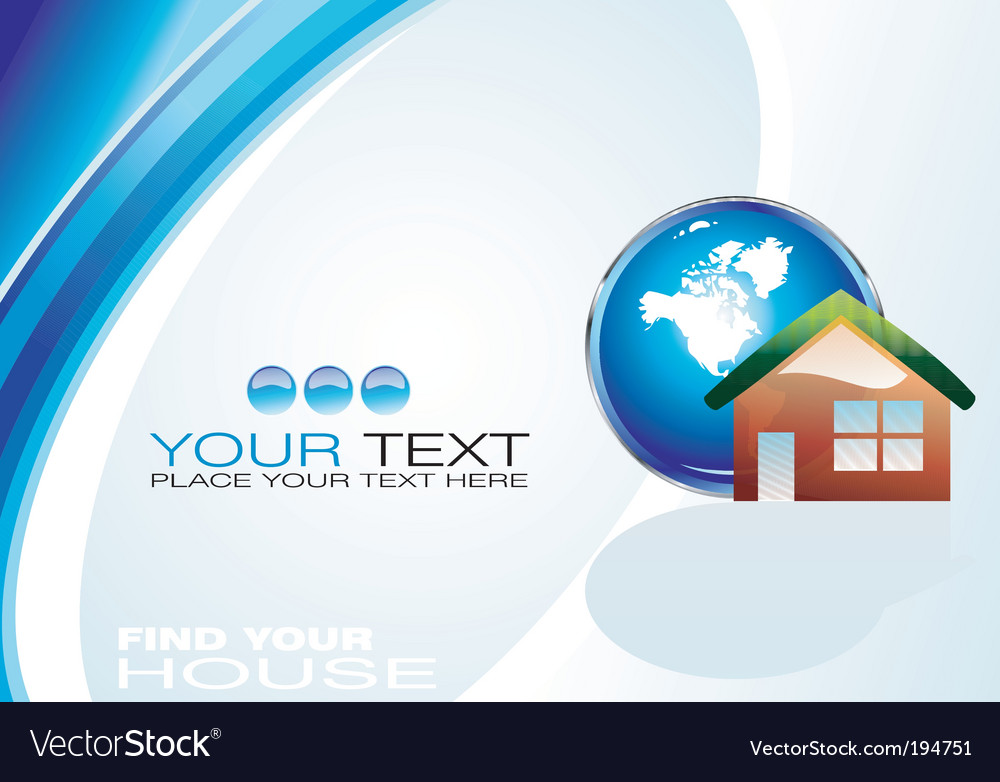 Real estate agency business card vector image