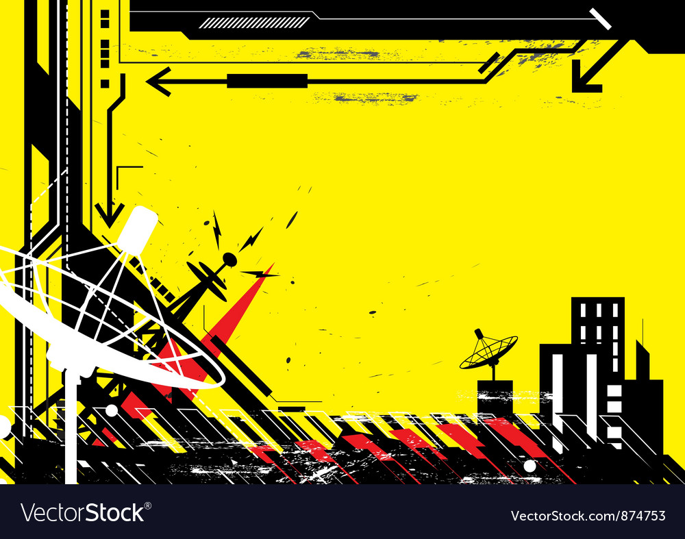 Abstract design urban scene vector image