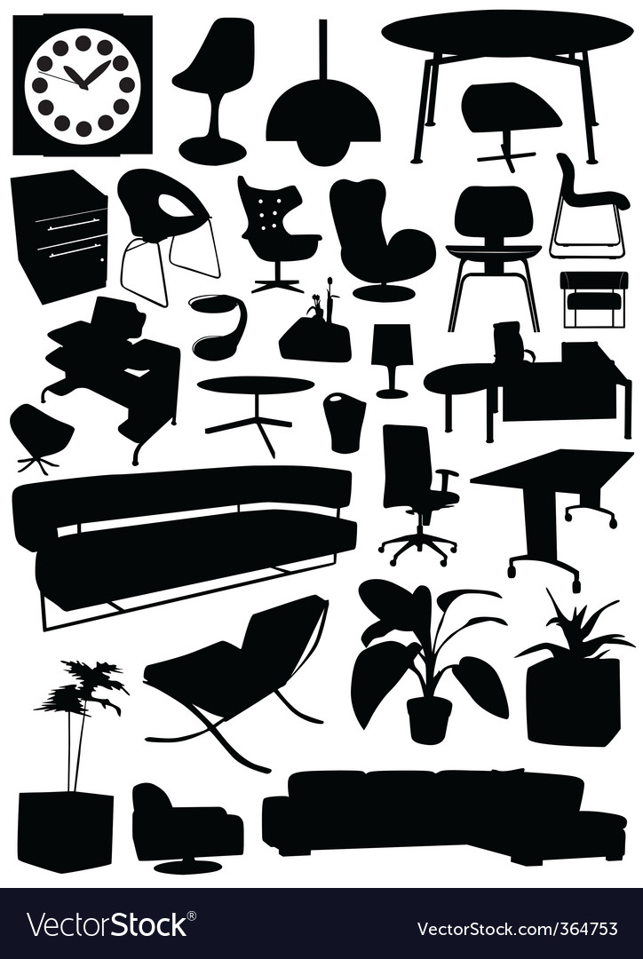 Business office design vector image