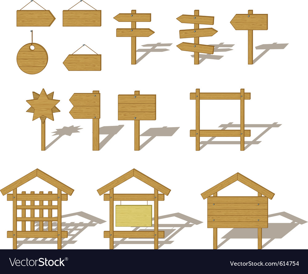 Billboards and signs Vector Image