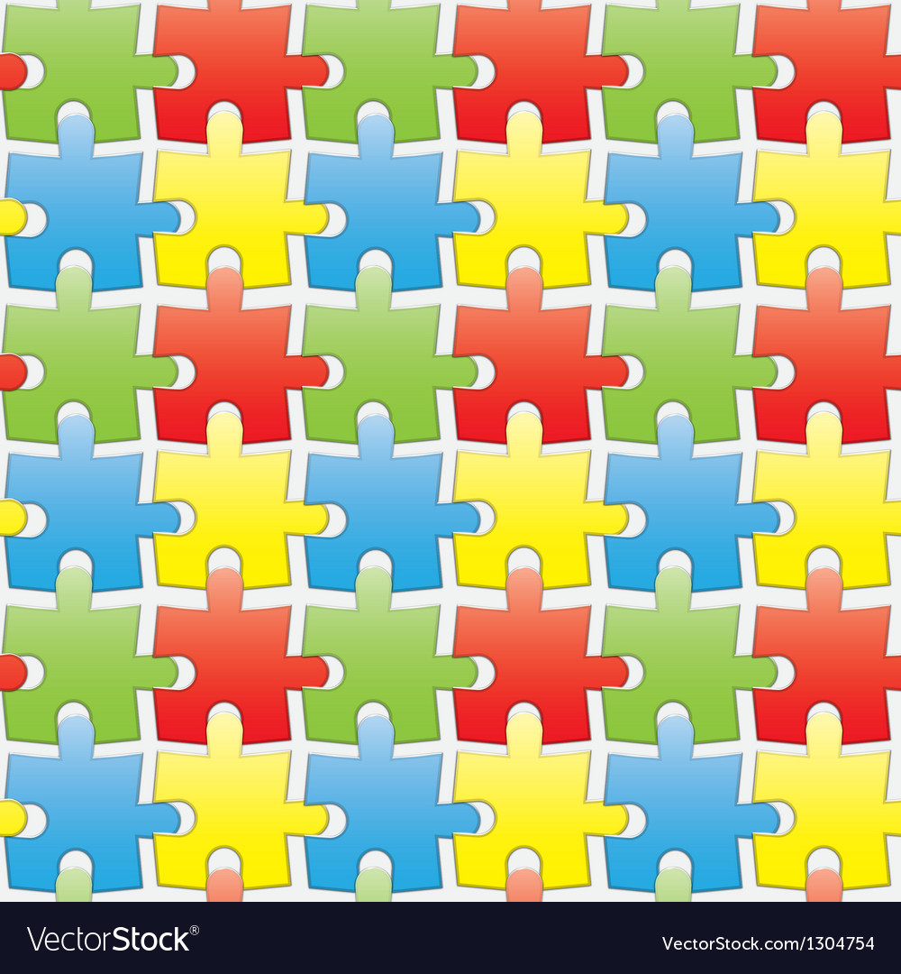 Colorful puzzles vector image