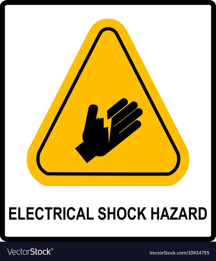 Electrical shock hazard symbol royalty free vector image electrical shock hazard symbol vector image buycottarizona Images
