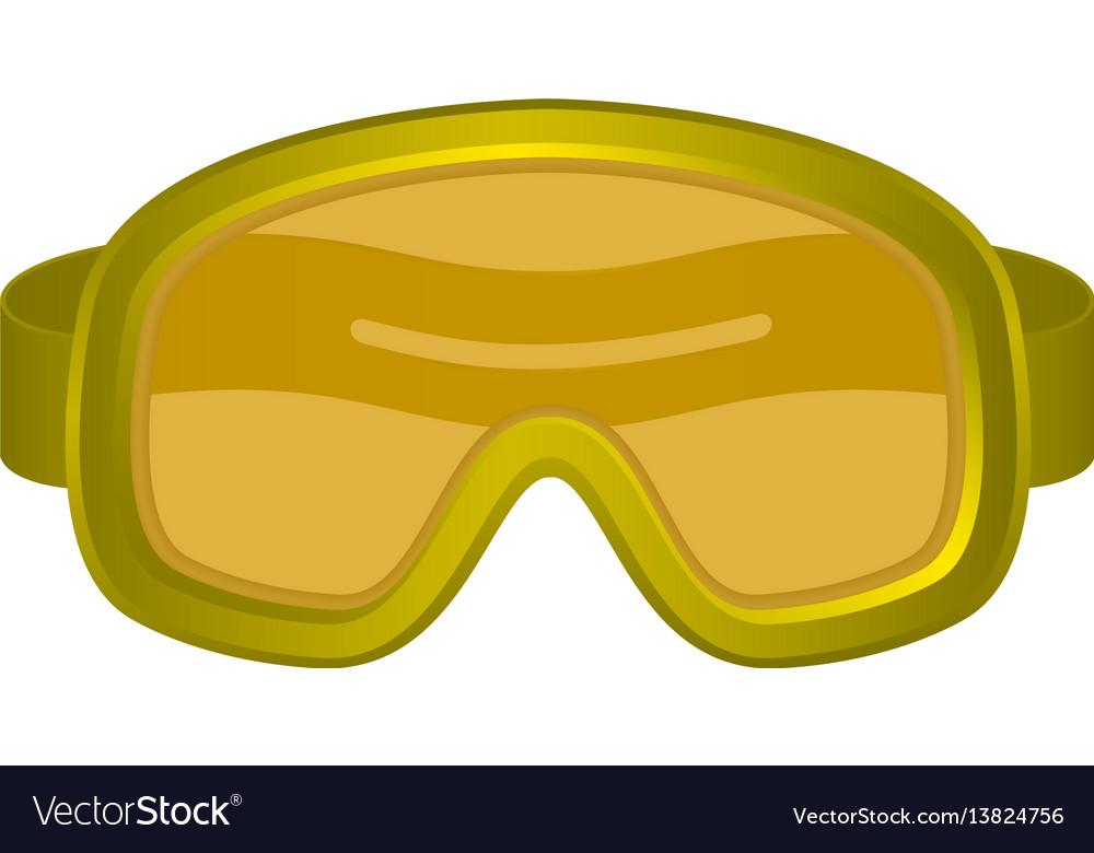 Ski sport goggles in orange design vector image