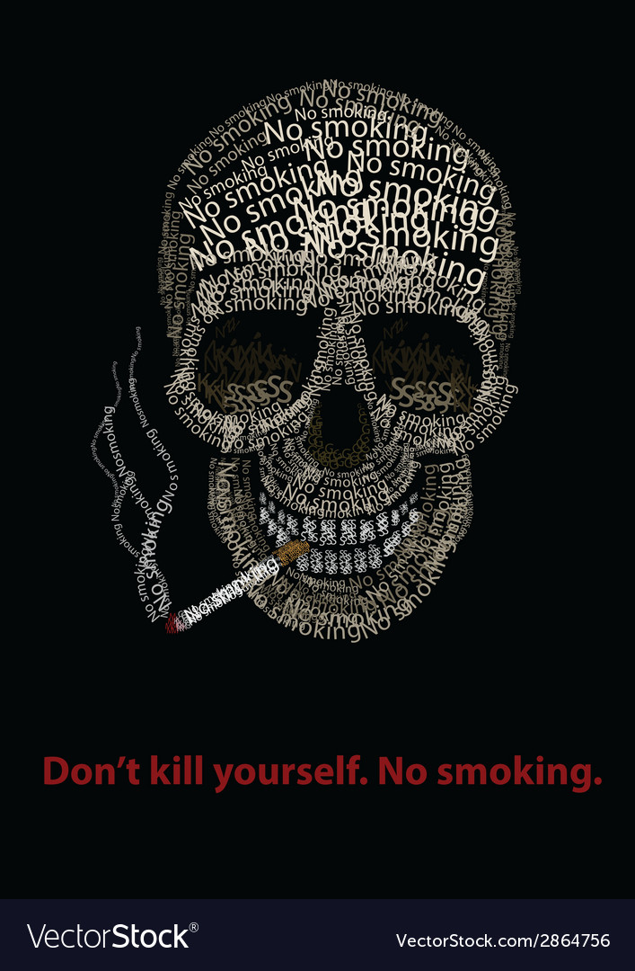 Typographic skill - no smoking vector image