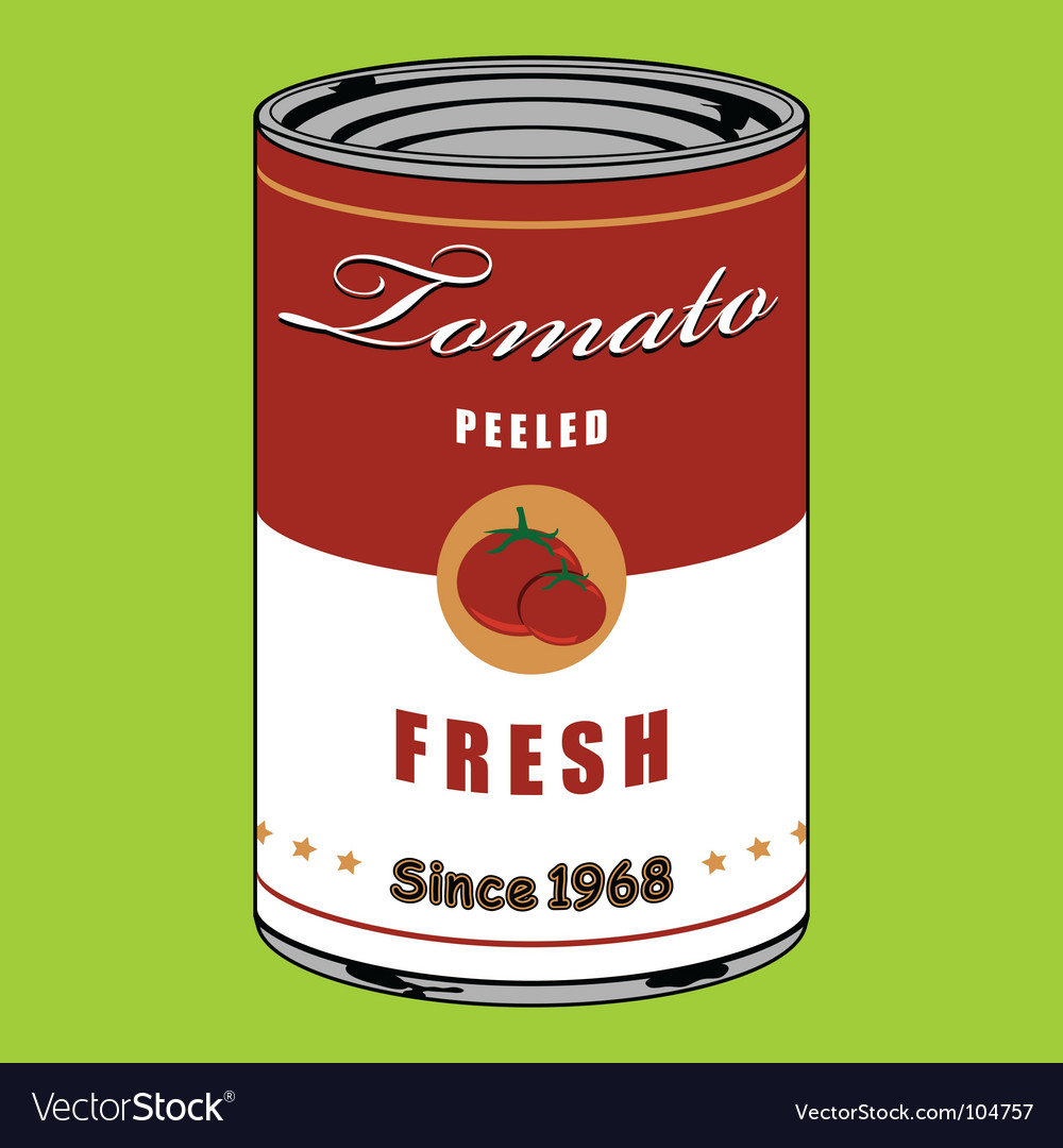 Tomato can Vector Image