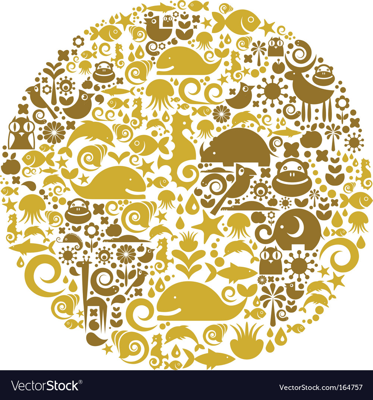 Environmental icons globe vector image