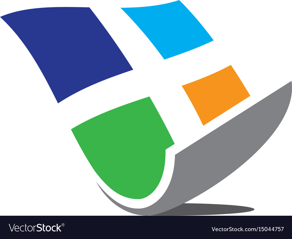 Abstract windows business logo image vector image