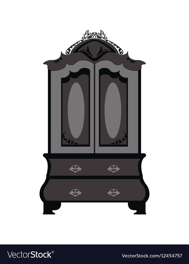 Classic royal ornamented glass case vector image