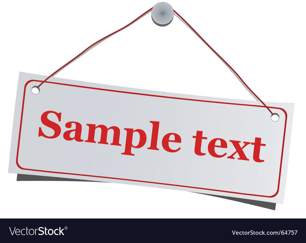 Hanging label vector image