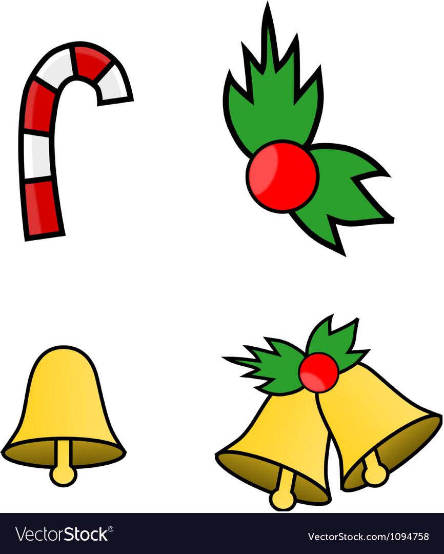 Simple Christmas Logos Royalty Free Vector Image