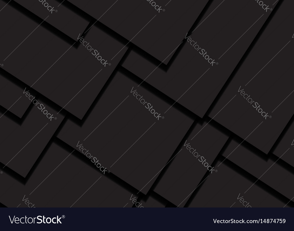 Black background abstract square overlap concept vector image