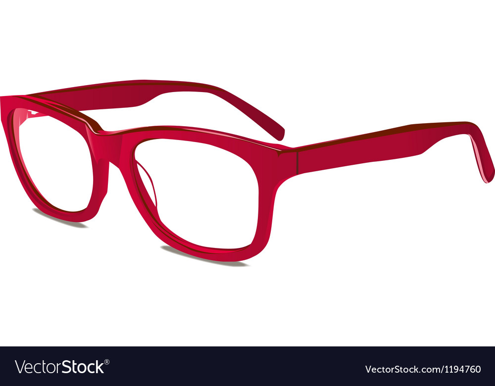 Red glasses vector image