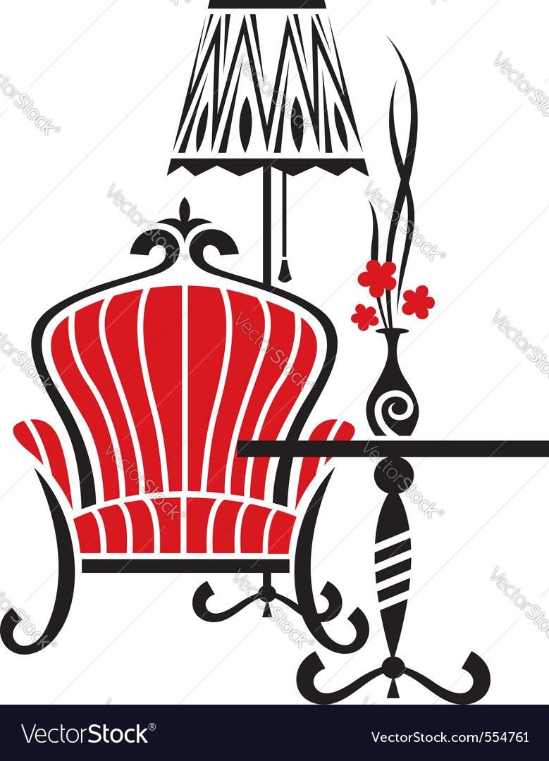 Armchair tattoo vector image