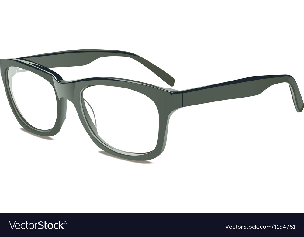 Grey glasses vector image