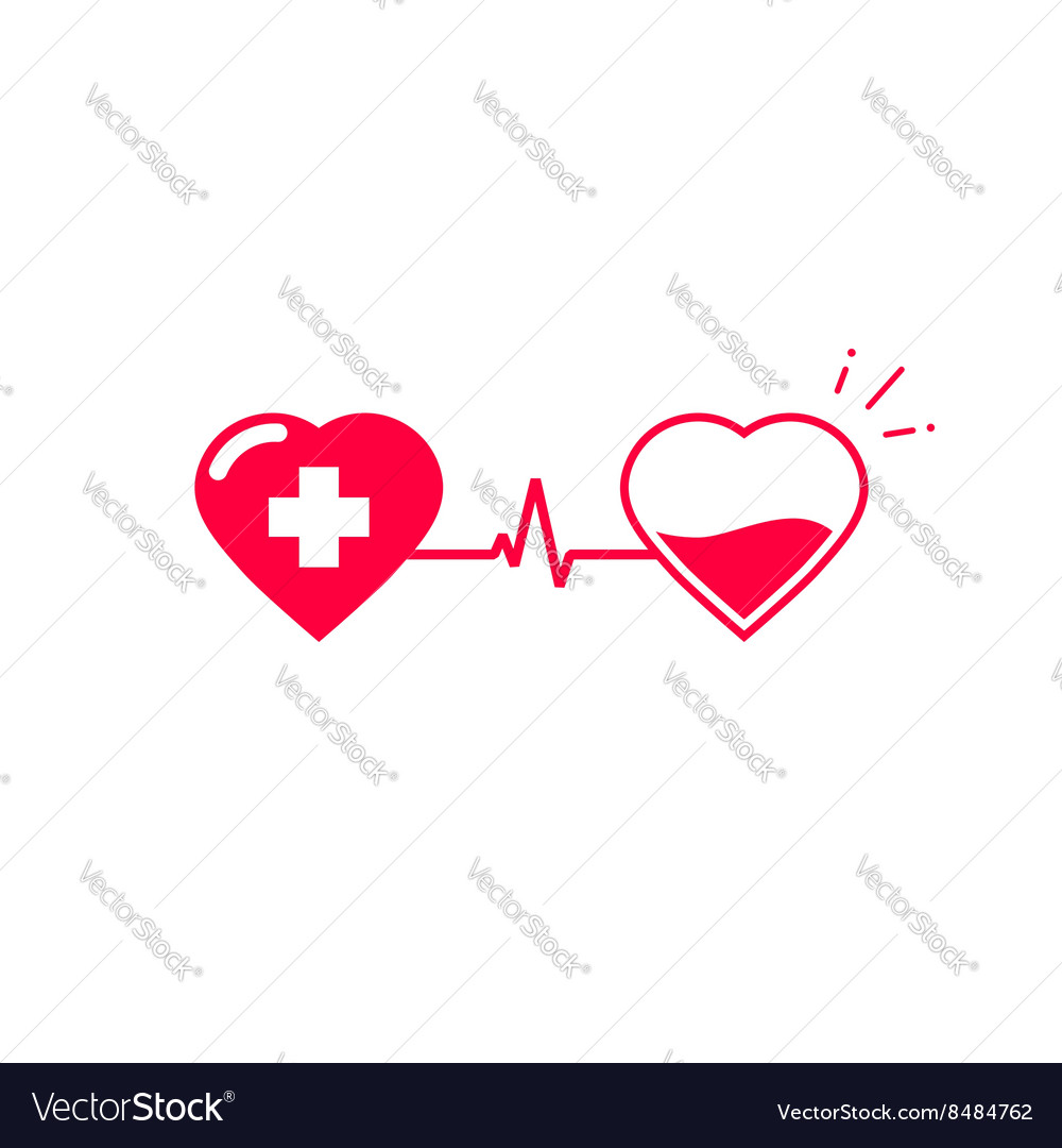 Blood donation symbol two hearts connected vector image blood donation symbol two hearts connected vector image buycottarizona